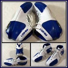 AND1 White Blue High Top Athletic/Basketball Shoe M Sz (14) #10437
