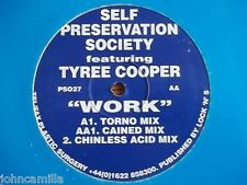"SELF PRESERVATION SOCIETY - WORK 12"" RECORD / VINYL - PLASTIC SURGERY - PS027"