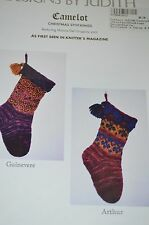 Designs by Judith Knitting Pattern Camelot Christmas Stocking