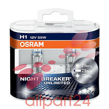 OSRAM 64150NBP-HCB H1 NIGHT BREAKER PLUS 2-pieces box DUO Box NIP