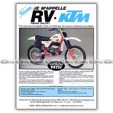 PUB KTM 125 RV - Original Advert / Publicité Moto de 1979