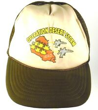 Operation Desert Storm Mesh Trucker Snapback Cap Hat Brown Iraq Jet Fighters