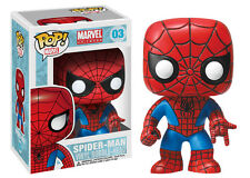 Funko POP! Marvel #03 Amazing Spiderman Bobble Head Vinyl Action Figure Avengers