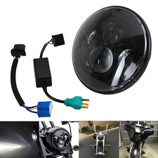 "7"" Motorcycle Black Projector Daymaker HID LED Light Bulb Headlight For Harley"