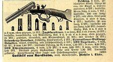 Gotthilf von Nordheim Mehlis i. Thür. GEWEHRFABRIK Historische Reklame von 1901