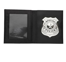 Special Police Badge & Wallet Cops Robbers Detective Prop Fancy Dress Accessory