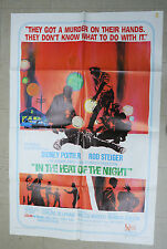 In the Heat of the Night one sheet Movie Poster 1967