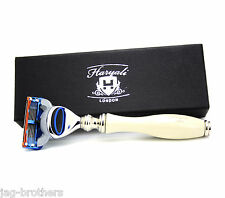 GILLETTE FUSION IVORY COLOR HARYALI LONDON MEN CARTRIDGE RAZOR with Branded box