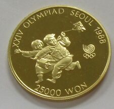 1988 Korea 25000 Seoul 1/2 oz. Gold Proof Olympics Kite Flying *Low Mintage Coin
