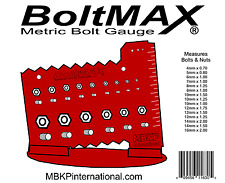 BoltMAX - Metric Bolt and Nut Thread Gauge Size Check Screw Fastener