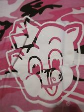 """NWT PIGGLY WIGGLY """"I'M BIG ON THE PIG"""" Pink CAMO Short Sleeve Tee Size YOUTH S"""