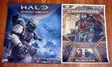 HALO4 CHAMPIONS BUNDLE, HALO SPARTAN ASSAULT sdcc 2013 Exclusive Game Poster PS3