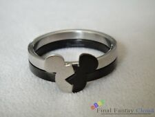 1pcs Cute Kingdom Hearts KH Mickey head Stainless Steel Paired Couple Ring Anime