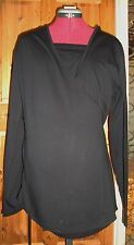 BNWT  MATERNITY Black Long Sleeved Discreet Breastfeeding Wrap Top Size M 12-14