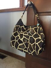 Dooney & Bourne Authentic Leather Handbag Large Purse Bag Tote Nordstrom Giraffe