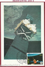 ITALIA MAXIMUM MAXI CARD ROMA 800 SATELLITE EUROPEO ORS 1991 ANNULLO ROMA C500