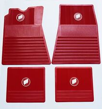 1961-1975 Buick Floor Mats. Red with Tri-Shield. FM615SR