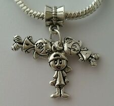1 Boy 2 Girls Triplets Friends Sister Daughter Brother Son European Dangle Charm