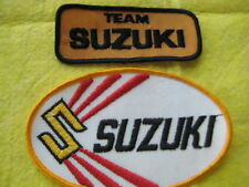 "Vintage Team Suzuki Motorcycle Patch set 3 5/8"" X 1  1/2""- 5"" X 3"""