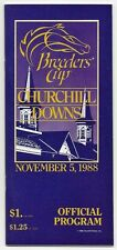1988 BREEDERS CUP HORSE RACING PROGRAM - MINT - 5TH RUNNING AT CHURCHILL DOWNS!
