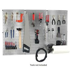 "NEW 32"" x 48"" Metal Pegboard Garage Tool Wall-Organizer Storage-Kit Board Hooks"