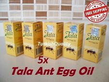 5x New Original Tala Ant Egg Oil - Permanent Hair Removal, Reducing, Natural Oil
