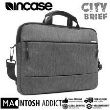 "Incase City Brief Premium Stylish Shoulder Bag For 15"" MacBook Laptop GREY/BLACK"