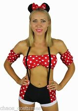 MICKEY MINI MINNIE MOUSE DISNEY FAIRY TALE FANCY DRESS HALLOWEEN COSTUME 6 8 10