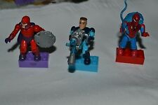 MARVEL MEGA BLOKS SPIDERMAN , MAGNETO , MR FANTASTIC  LOOSE FIGURES