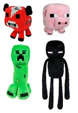 "MINECRAFT SET 4 PELUCHES 15-25cm/4 PLUSH TOYS 6""-10"" ENDERMAN,PIANTA RAMPICANTE"