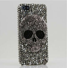 New Gray Skull Crystal Black Finished HARD Case cover for APPLE iPhone 4 4S