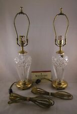 Pair- Genuine WATERFORD CRYSTAL Lamps w/Brass, Table Nightstand Accent, Belline?