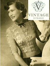 Vintage Knitting pattern- how to make a sweet 1940s lily of the valley jumper