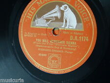 78rpm RICHARD CROOKS you will remember vienna / i bring a love song
