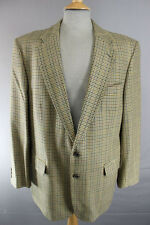 SUPERB BROOK TAVERNER PURE WOOL GREEN CHECKED TWEED JACKET 42 INCH