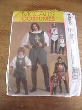 """PATRON  """"McCALL'S COSTUMES CHEVALIER/PRINCE/SAMOURAI ENFANT  3 A 8 ANS N° 5500"""