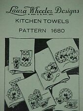 Vintage Scottie Dog Transfer Pattern for Kitchen Towels Days of the Week 1940s