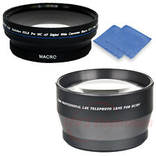 72mm Professional 2x Telephoto, & Super Wide Angle Macro lens for Nikon + BONUS