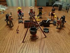 1992 Playmobil #3747 Western Cowboy Gold Miners Prospectors Complete Loose Set