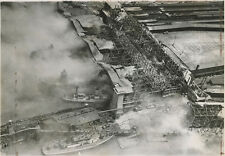 STATEN ISLAND FERRY SLIPPER FIRE 1946 NY 8X10 PHOTO REPRINT ONLY