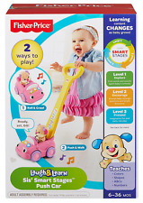 NEW FISHER PRICE Laugh & Learn Sis' Smart Stages Push Car Toy/Infant/Toddler