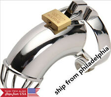 Houdini Cage Male Metal Chastity Device with Ring