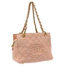 Auth CHANEL Quilted CC Chain Shoulder Bag Pink Caviar Leather Vintage V14125