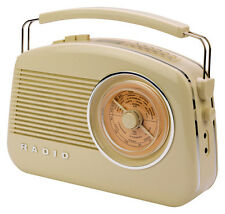Konig DAB FM AM Stylish Retro Radio - TR900BE - CREAM