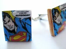 Superman Gemelos ~ Vintage Cartoon Movie Gemelos hecho a mano por dandandesigns