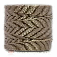 77 Yds. Super-Lon Cord #18 Silver Beading Crafting Stringing Crochet