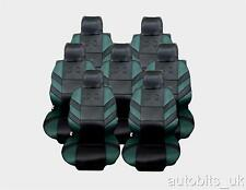 FULL SET 7X GREEN SEAT COVERS CUSHION COVERS FOR 7 SEATER VW TOURAN MPV