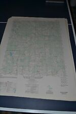 1940's Army topographic map Darvills Virginia -Sheet 5458 III SE