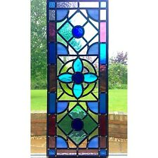 Stained Glass Window Door Panels Hand Crafted, Made To Order Commissioned
