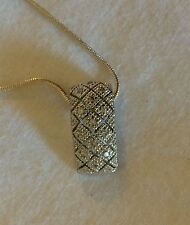 Sterling Silver and Diamond Pendant Necklace